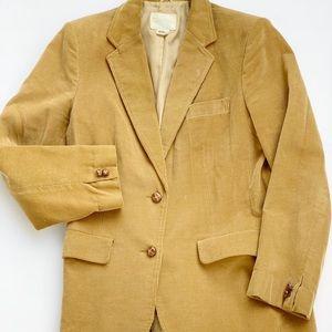 Vintage 80's De Mura Tan Corduroy Blazer